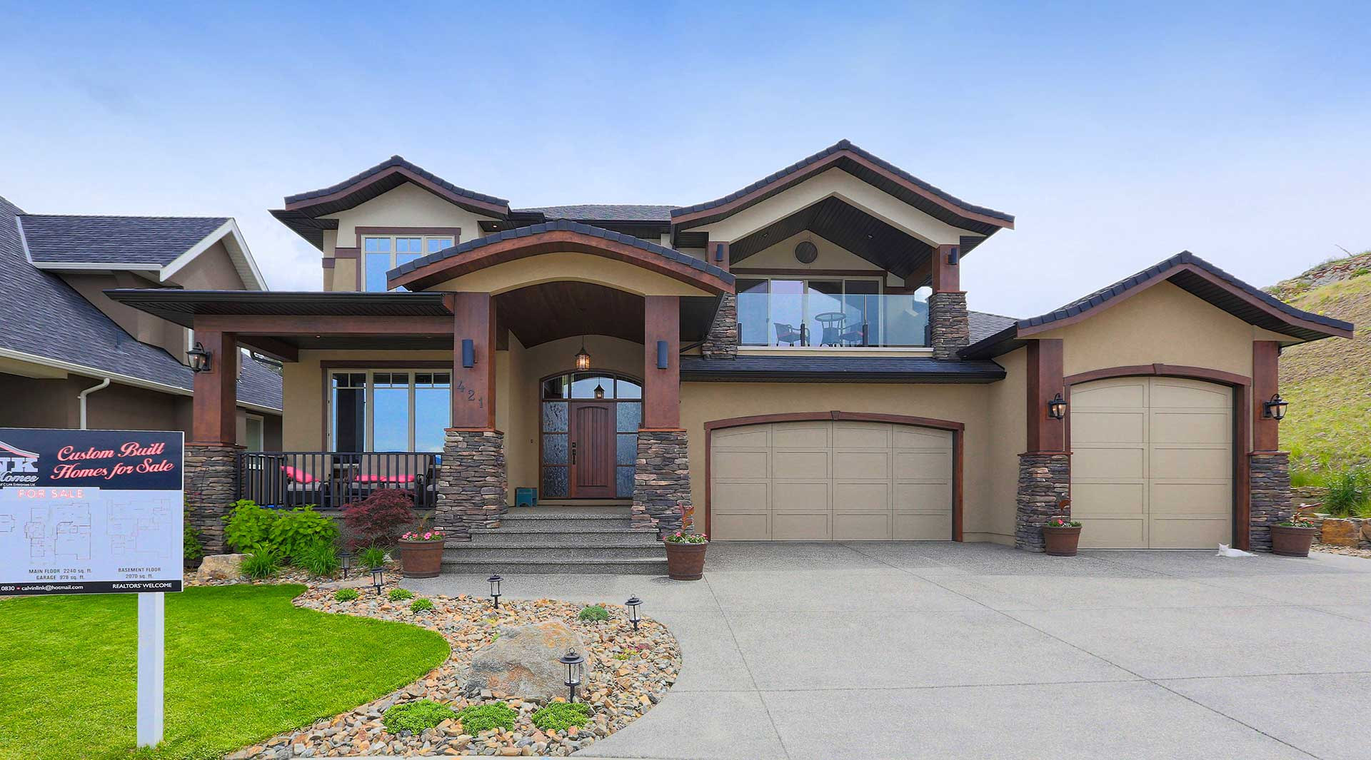 Link custom homes kelowna home builder for House plans for builders