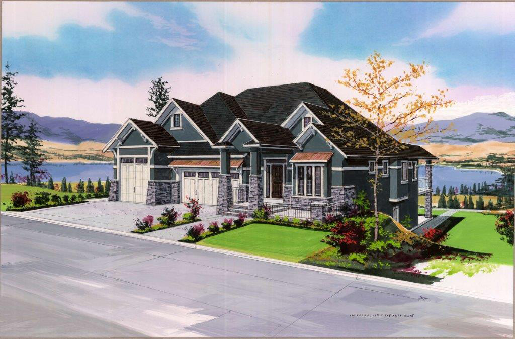9 diverse architectural styles in kelowna s best community for Craftsman style gables
